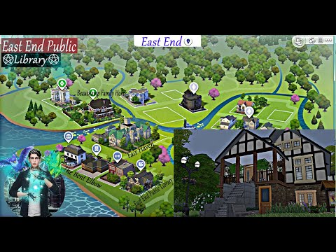 EAST END PUBLIC LIBRARY (Witches of East End )  // The Sims 4 (Speed Build) No CC