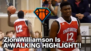 Zion Williamson Gets His HEAD AT THE RIM!!   16 Year Old Phenom Is a WALKING HIGHLIGHT