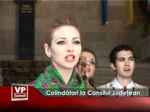 Colindători la Consilul Judeţean