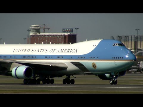 Air Force One Lands In Boston And President Obama Brings A Message Of Healing