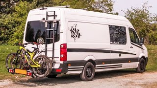 Van Conversion with FULL SOLAR POWERED Entertainment System 🎮📺 |  Full Van Tour 🚐 by Nate Murphy