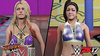 After Bayley successfully defeated Sasha Banks on Raw to earn an opportunity at the Raw Women's Title, Alexa Bliss will now defend her Raw Women's Championship against Bayley at WWE SummerSlam 2017!Show some love by leaving a like, sharing and subscribing for more awesome videos like these!OUTRO MUSIC: Undertaker's Rollin Theme Cover by JAYDEGARROWJAYDEGARROW's YouTube: https://www.youtube.com/channel/UCit4zHRRYaU5Og8ZHqvA7jQFOLLOW ME HERE:Facebook: https://www.facebook.com/julian.rosado.14Twitter: https://twitter.com/Jules1451Instagram: https://www.instagram.com/jules1451/Snapchat: @Jules1451Want to see more WWE 2K16 & WWE 2K17 Content? Visit this link for more! http://www.thesmackdownhotel.com