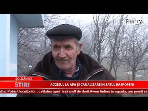 Accesul la apă și canalizare în satul Răspopeni
