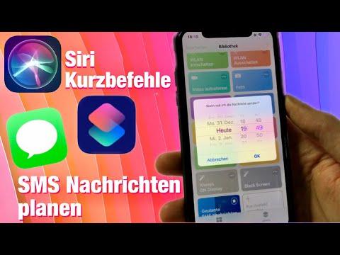 Zeitlich geplante SMS Nachrichten verschicken mit dem iPhone & Siri Kurzbefehle   Anleitung Tutorial