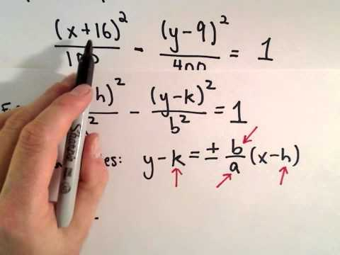 Conic Sections, Hyperbola , Shifted : Find Asymptotes