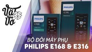 Philips giới thiệu thêm 2 mẫu feature phone với pin cực trâu, E168 & E316, anh em nào cần một chiếc máy phụ hay cần một chiếc máy dành cho phụ huynh nghe gọi với pin trâu, có cả camera, nghe nhạc Mp3 đủ cả.---------❇️ Xem các video game, ứng dụng hay cho smartphone: https://goo.gl/GuI25l✴️ Đánh giá/tư vấn các phân khúc dưới 3⃣️ triệu:https://goo.gl/EF0QKF✳️ Đánh giá/tư vấn các phân khúc 4⃣️ triệu: https://goo.gl/FVrKJ7✳️  Đánh giá/tư vấn các phân khúc 5⃣️ triệu: https://goo.gl/YlrYkh✳️ Đánh giá/tư vấn các smartphone phân khúc 7⃣️ triệu: https://goo.gl/YZAI0g✴️ Đánh giá/tư vấn các smartphone phân khúc 9⃣️ triệu:https://goo.gl/Q0X5OB⁉️⁉️ Video review, trên tay, các sản phẩm điện thoại, giá bán rẻ nhất, cửa hàng mua uy tín nhất, sản phẩm tốt nhất trong tầm giá và các tư vấn, lời khuyên, video so sánh các sản phẩm cần mua, đánh giá sản phẩm công nghệ, điện thoại di động, máy tính bảng, sản phẩm xách tay Hàn Quốc, Nhật Bản, sản phẩm chính hãng. Các video đánh giá này thuộc quyền sở hữu của Vật Vờ.✌️500 ANH EM HÃY VỀ ĐỘI CỦA MÌNH 🤝Fanpage: https://www.facebook.com/vinhvatvo69Facebook: https://www.facebook.com/xuanvinh1612Instagram: https://www.instagram.com/vatvo69Email: xuanvinh1612@gmail.comEmail liên hệ hợp tác quảng cáo: xuanvinh1612@gmail.com** My email to corporate: xuanvinh1612@gmail.com(Email chỉ để liên hệ hợp tác, không trả lời các thắc mắc tư vấn tình cảm, yêu đương và sản phẩm. Xin cám ơn.)