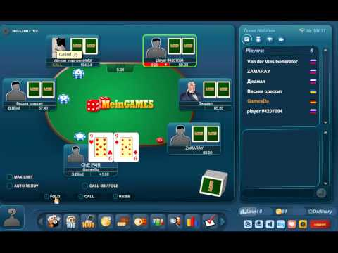 Play Poker Texas Holdem Online at GamesDa.com