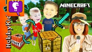 Minecraft SCAVENGER HUNT for Surprise Toys! We Play Video Games with HobbyBobby