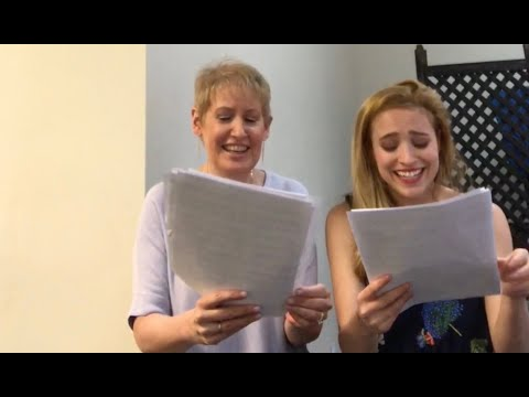 """Liz Callaway & Christy Altomare- First Rehearsal """"Journey to the Past"""" Duet"""
