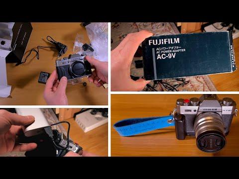 Despachetare Aparat Foto Mirrorless Fujifilm X-T30 si alimentare prin adaptorul CP-W126 DC