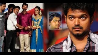 A Gold Bangle Gift by Vijay Fans to the sister of Unnikrishnan who died during Kaththi
