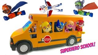 Video Paw Patrol Rides School Bus to Superhero Super Pup School Wheels on the Bus Song MP3, 3GP, MP4, WEBM, AVI, FLV Agustus 2018