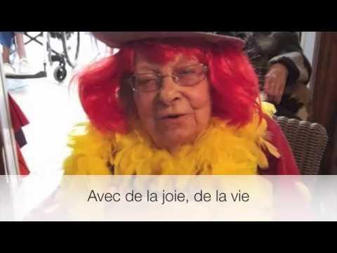 """A la maison de retraite """"Mélavie"""" à Montgeron"""