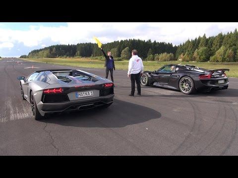 Porsche 918 Spyder vs Lamborghini Aventador