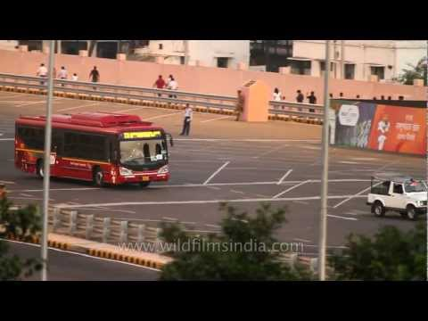 low floor - Special new low-floor buses introduced in New Delhi, during the Commonwealth Games 2010. Also, see special security arrangements in place for the Games (Delh...