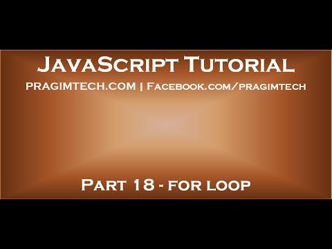 For loop in JavaScript