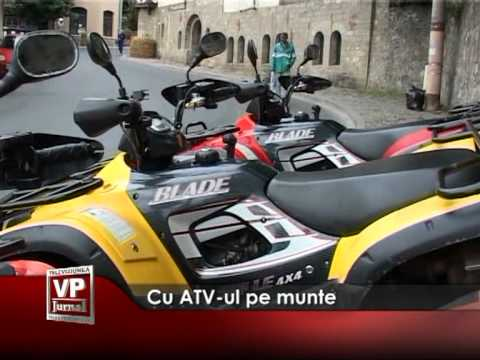 Cu ATV-ul pe munte