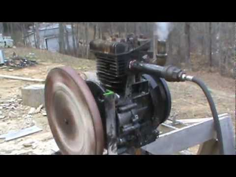 diy steam engine - 12 horse briggs and stratton engine that i converted to run off steam.
