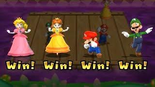 Mario Party 9 Step It Up - Peach vs Daisy vs Mario vs Luigi Master Difficulty | Cartoons Mee