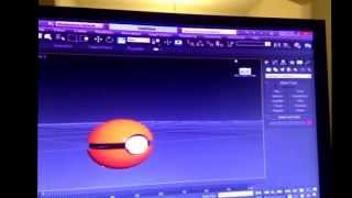 I made a poke ball through modeling on 3ds max…. Couldn't get the white part on though tips