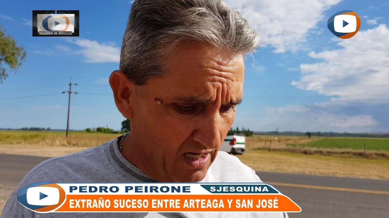 Extraño suceso este Lunes 26 entre Arteaga y San José por Ruta 92