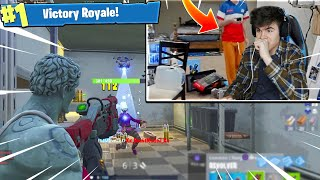 I PLAYED FORTNITE IN NINJAS ROOM 😱Then this happens..