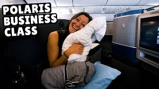 Video 13 Hours in United's POLARIS BUSINESS CLASS (flying standby) MP3, 3GP, MP4, WEBM, AVI, FLV Juli 2019