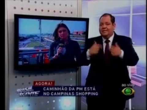 caminhao equipado - Entrada ao vivo e matéria veiculada no programa Brasil Urgente da rede Bandeirantes, na região de Campinas. Reportagem: Fernanda Marion Imagens: Alexandre He...