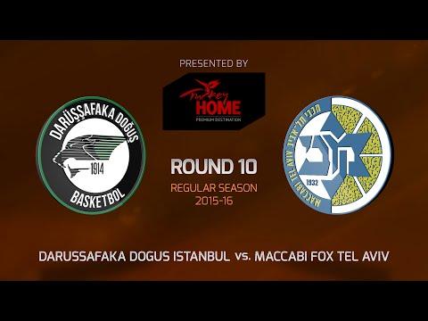 Highlights: RS Round 10, Darussafaka Dogus Istanbul 66-70 Maccabi FOX Tel Aviv
