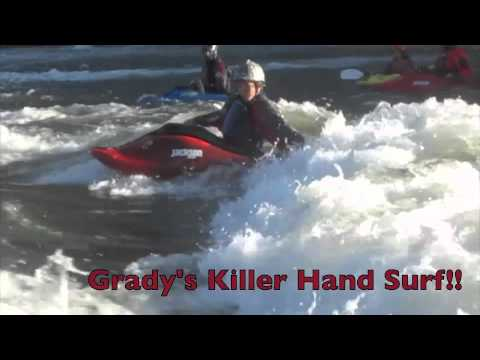 Whitewater Freestyle Kayaking: No Paddle Loops & Spins!  Awesome Tricks by Kids!
