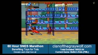 Clan of the Gray Wolf annual charity marathon (2013). 60+ hours of SNES games, benefiting Toys For Tots. Games played in this...