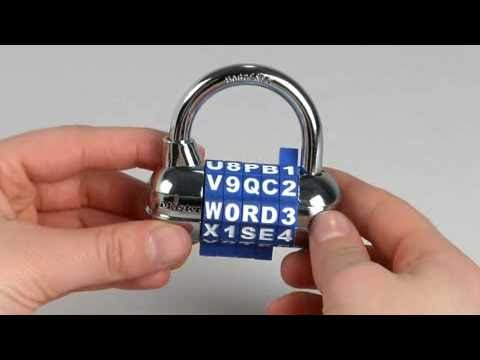 Screen capture of Operating the Master Lock 1534D Password Combination Lock