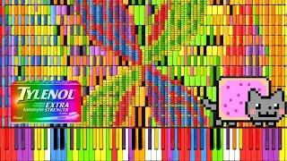 "Video [Black MIDI] Synthesia – ""Nyan Trololol"" | Rainbow Tylenol & Nyan Cat Remix ~ BusiedGem MP3, 3GP, MP4, WEBM, AVI, FLV Mei 2018"