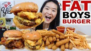 Video THICK & JUICY!! Fat Basterd Beef & Bacon Burgers, Mozzarella Cheese Sticks | Eating Show Mukbang MP3, 3GP, MP4, WEBM, AVI, FLV Juli 2018