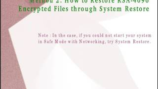 To know how to uninstall RSA-4096 quickly from the PC, watch out this video carefully as it contains working guidelines regarding that purpose. For more deta...