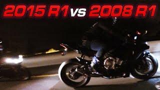 7. 2015 Yamaha R1 vs 2008 Yamaha R1