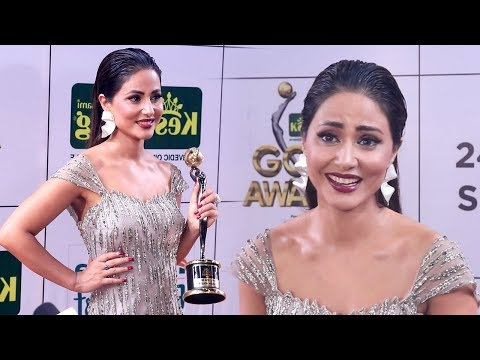 Hina Khan Shows So Much ATTITUDE After Winning Most Beautiful Women At Zee Gold Awards 2018 (видео)