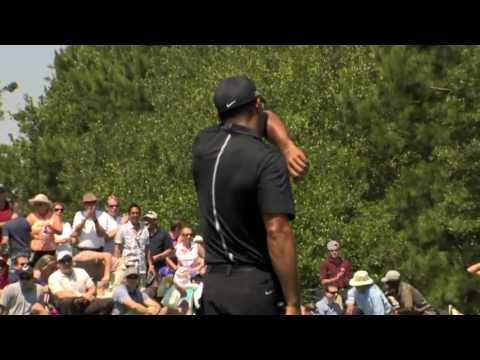 players - In the second round of THE PLAYERS Championship 2013, Tiger Woods hits his 252-yard second shot to 20 feet on the par-5 2nd hole and sinks the putt for eagle.