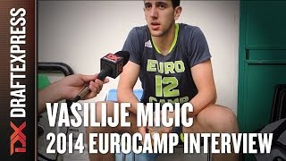 Vasilije Micic Interview at 2014 adidas EuroCamp