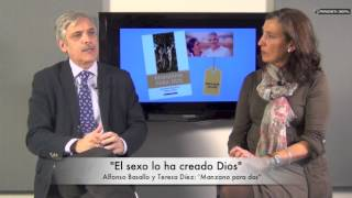 Alfonso Basallo y Teresa Díez, autores de 'Manzana para dos'. 27-1-2015