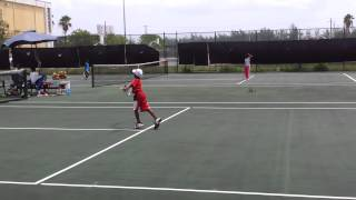 MJ Tennis sparing session in Nassau Sporting Complex
