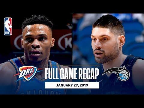 Video: Full Game Recap: Thunder vs Magic | Russ Records Triple-Double & PG Scores 37