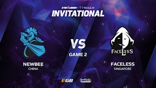 Newbee vs Faceless, Game 2, SL i-League Invitational S2 LAN-Final, Group B