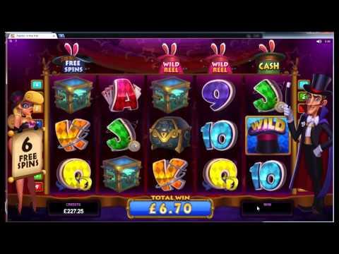 Rabbit in the Hat Slot Super Big Win - Bonus Round - Microgaming