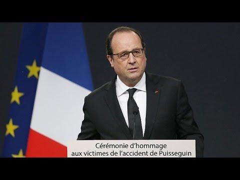 Γαλλία: Ο Ολάντ με τις οικογένειες των θυμάτων του δυστυχήματος
