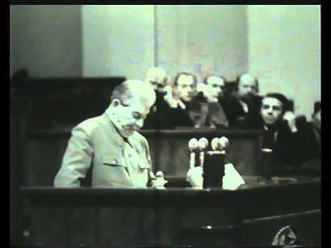 Последнее выступление И.В. Сталина