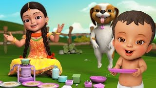 Come on let's enjoy this famous Telugu Rhymes 'Dosamma Dosa-Vedi Vedi Dosa'. This fun kids song teaches numbers along with the importance of sharing.for more information : www.infobells.com