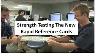 """The 2017 adult and pediatric rapid reference cards are now available at www.nonapps.com.  The new cards are printed on a highly durable synthetic material that is resistant to wear and tear.  I wanted to find out how durable this product was so I put it through a series of """"tests""""!  The cards held up better than I even imagined."""
