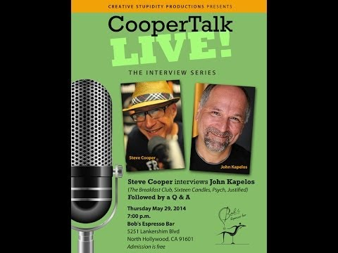 John Kapelos - Steve Cooper talks with actor John Kapelos (The Breakfast Club, Sixteen Candles, Justified, Miami Vice, Graceland, etc.) about his career in the first episod...