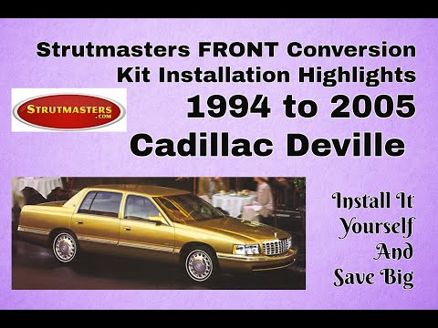 1994-2005 Cadillac Deville Front Electronic Suspension Conversion Installation
